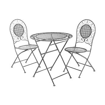 Amazon.de: Jardin 3-teiliges Tisch Set Schmiedeeisen 1 x ...