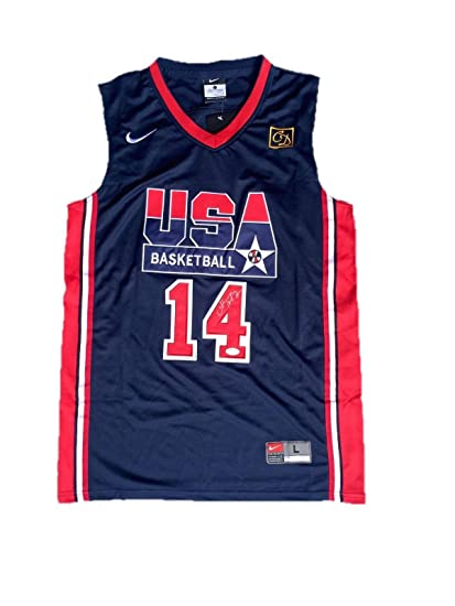 9381eae35771 Image Unavailable. Image not available for. Color  Autographed Charles  Barkley Jersey - USA ...