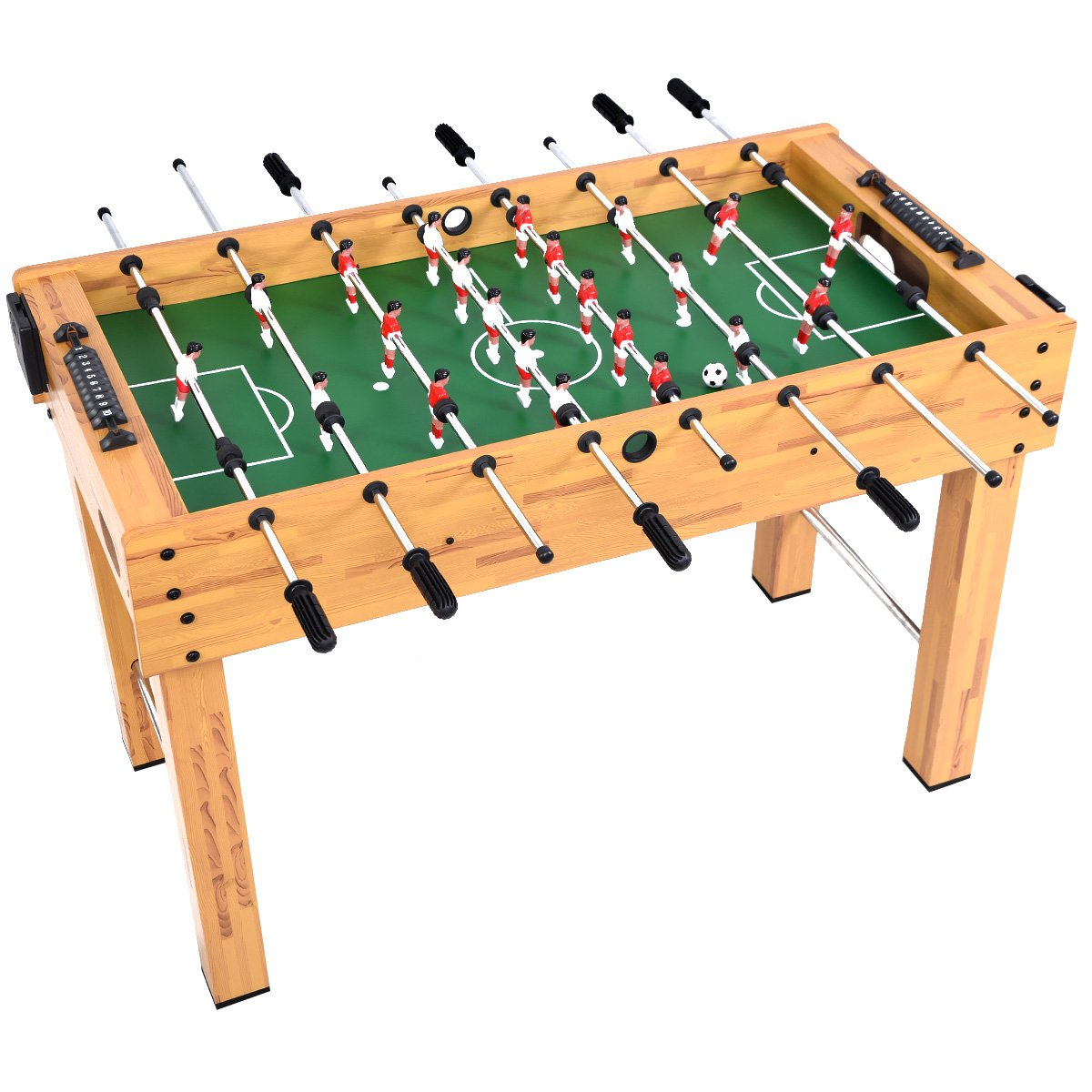 GYMAX 48'' Foosball Table, Indoor Competition Soccer Game Table for Adults Kids Game Room by GYMAX