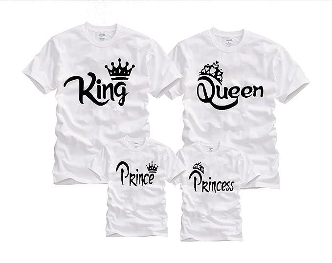 Wonder Labs Familia de Rey Queen Príncipe Princesa Corona Matching Funny  Camisas playera e67b2172ff3ac