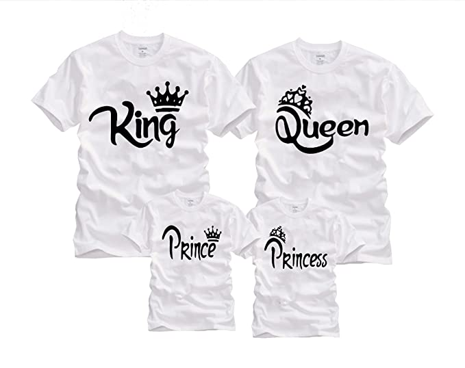 8df8e84255 Wonder Labs King Queen Prince Princess Crown Matching Family Funny Shirts T- Shirt at Amazon Women's Clothing store: