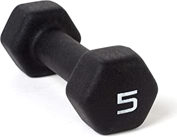 CAP Barbell Neoprene Coated Single Dumbbell (5 lbs)