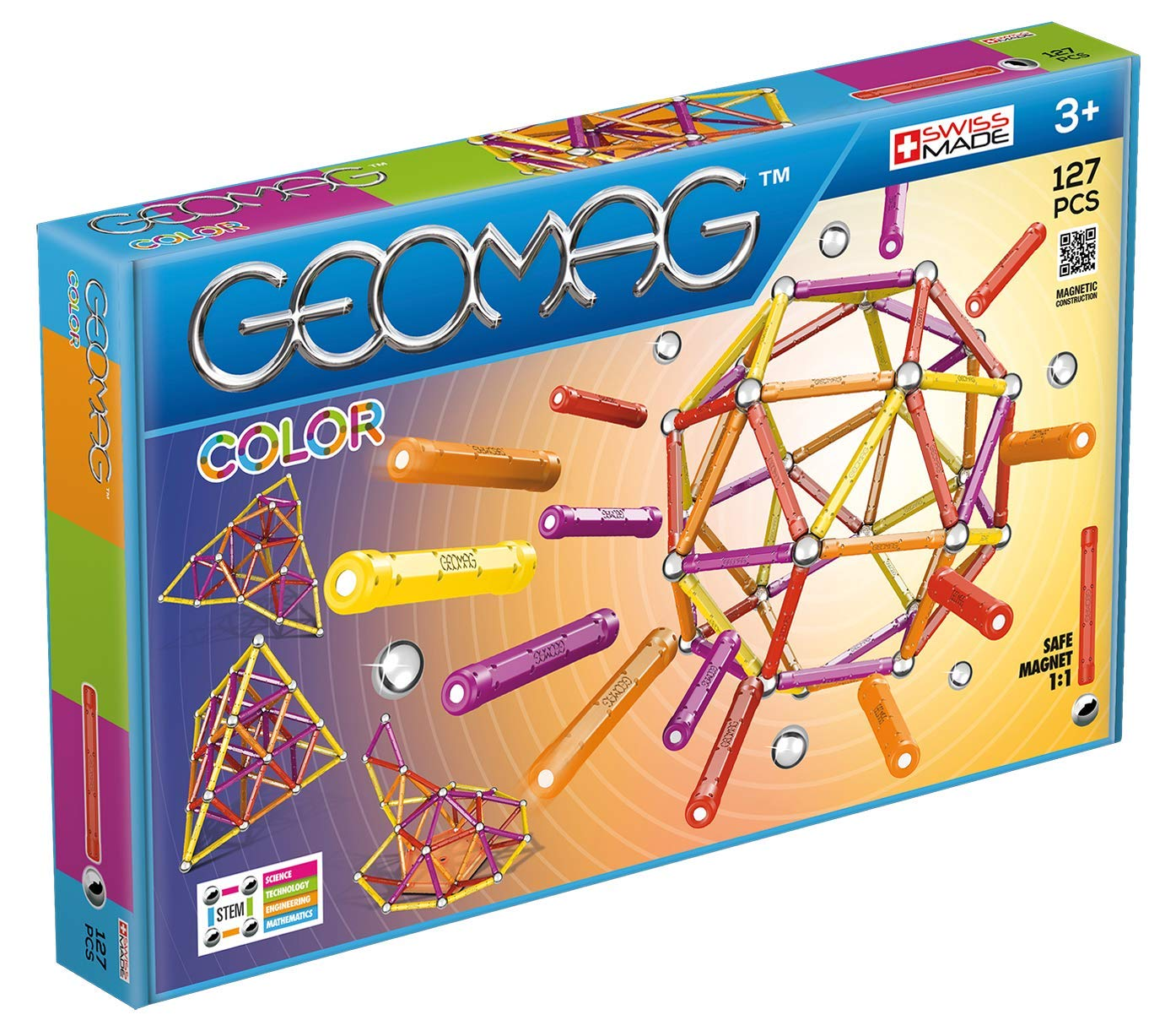 Color 35 Jeux de Construction GMC01 Pi/èces Geomag