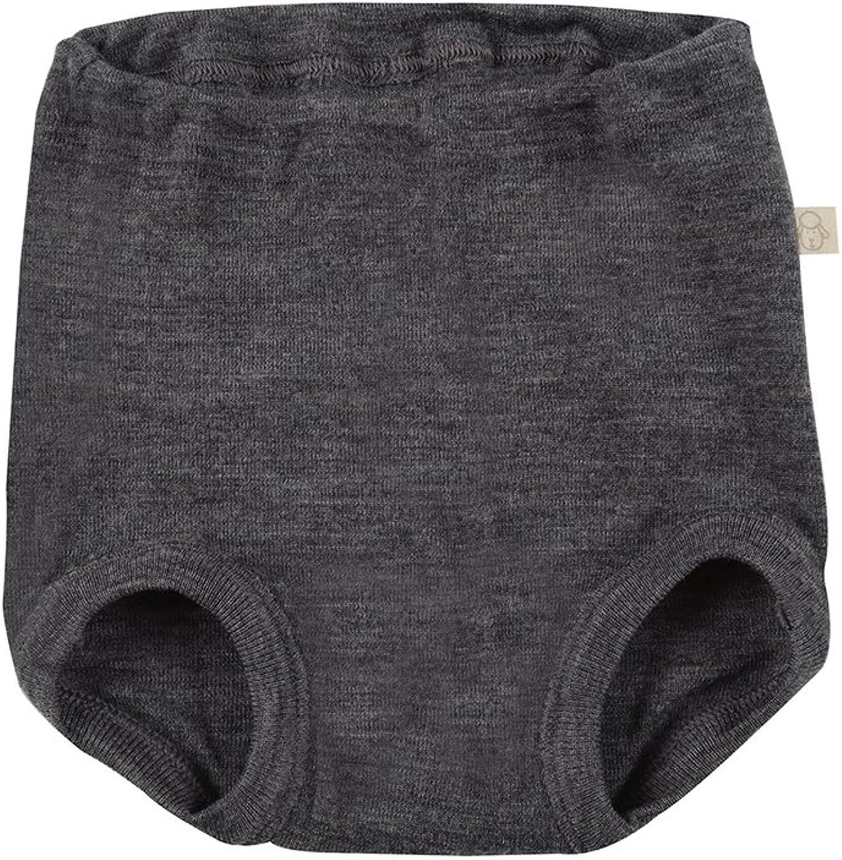 DILLING Jungen Unterhose dunkelgrau meliert 100/% BIO-Merinowolle NEU