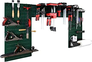 product image for Wall Control Woodworking Tool Storage Organization Kit - Lazy Guy DIY Edition Wood Working Tool Supply Organizer for Do-It-Yourself Woodworkers and Makers (Green Pegboard)