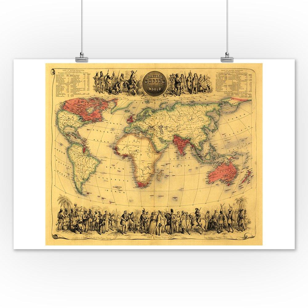 Amazon Com World Map Showing British Empire 1850 Panoramic