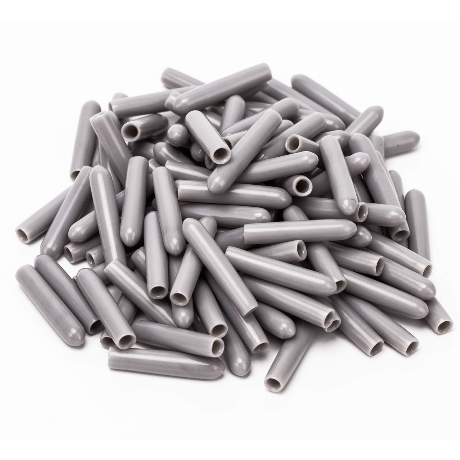 Luter 100 pieces Dishwasher Rack Tine Prong Repair End Cover Caps Tip Caps Repair Tip Tine Kit Antirust,Gray