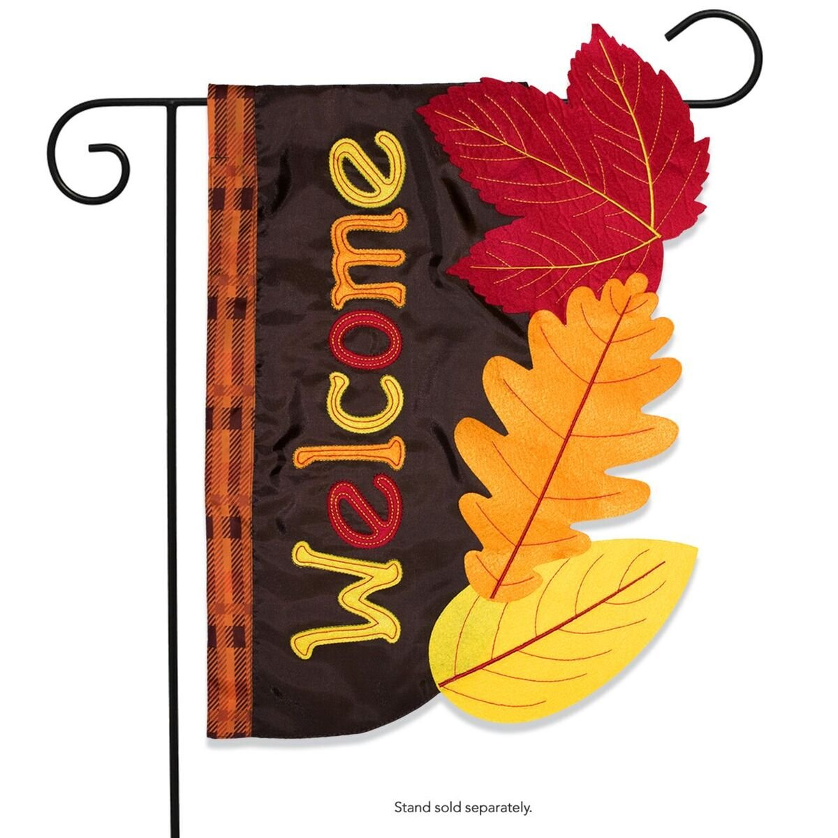 Briarwood Lane Fall Leaves Applique Garden Flag Autumn Colored Leaf 12.5'' x 18'' by Briarwood Lane (Image #1)