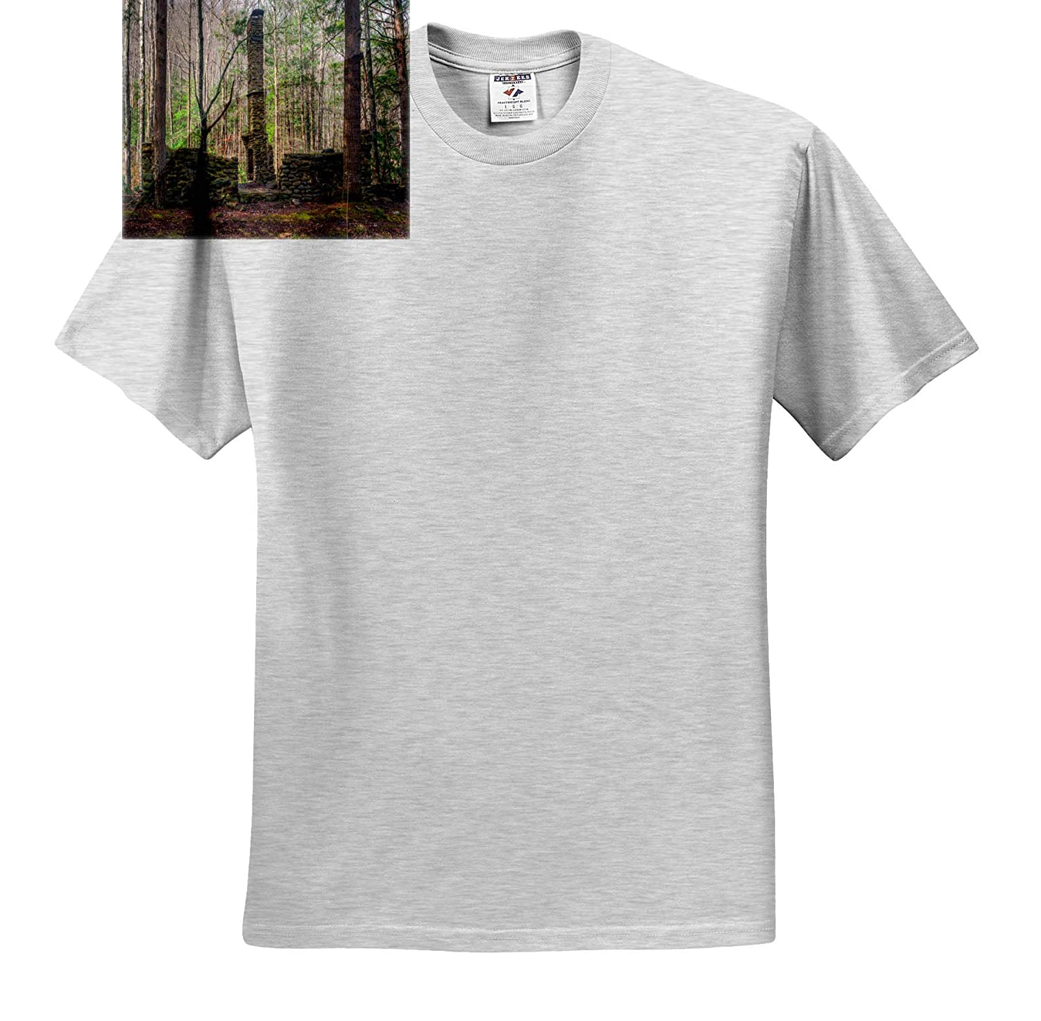 T-Shirts 3dRose Mike Swindle Photography Landscape Old Chimney and Rock Walls