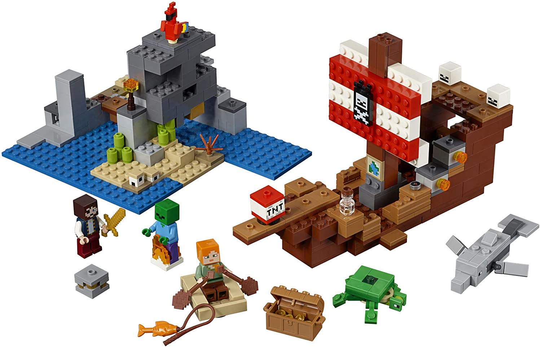 Lego Minecraft A Aventura do Barco Pirata 9