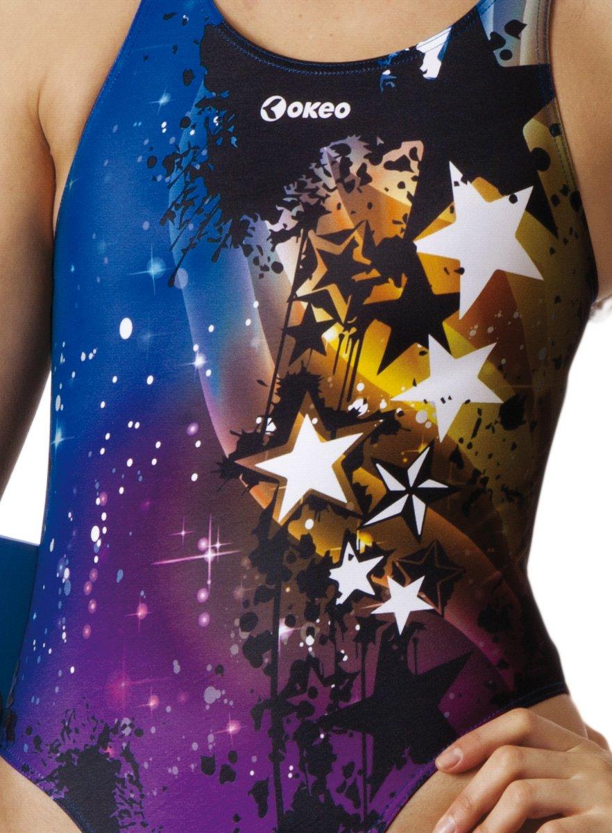 54d4f1c2a44e Okeo -CARLA- Costume intero donna per piscina; SLIM FIT; tg 48: Amazon.it: Sport  e tempo libero