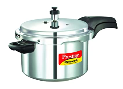 badb750e001 Image Unavailable. Image not available for. Colour  Prestige Deluxe Plus  Induction Base Aluminium Pressure Cooker ...