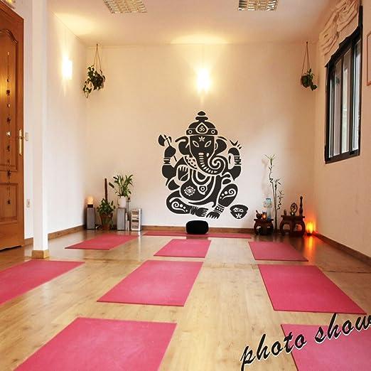 Ganesh Wall Decal Vinyl Wall Sticker Room Art Decor Bedroom Ganesh Elephant  GOD OM Yoga Buddha Mandala Ganapati £¨Large,Black)