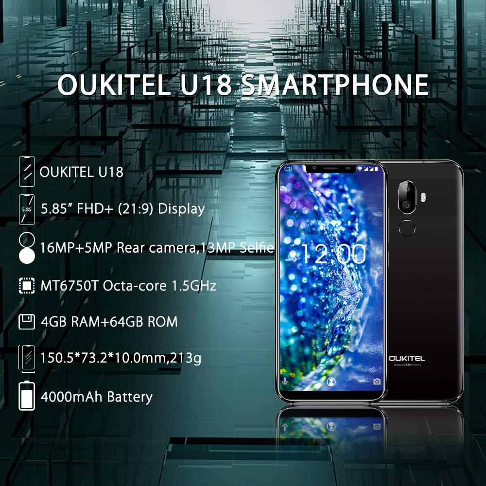 OUKITEL U18 4G LTE Smartphone Libre,5.85