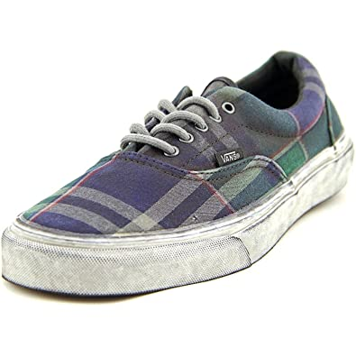 7c95418e7526 Vans Era CA Overwashed Plaid Blue Sneakers Unisex Adult (6.5 Mens 8 Womens)