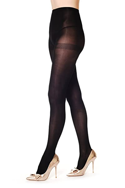 afaaa5985cf1a Image Unavailable. Image not available for. Color: Plain Black 80 Denier - Black  Opaque Pantyhose ...