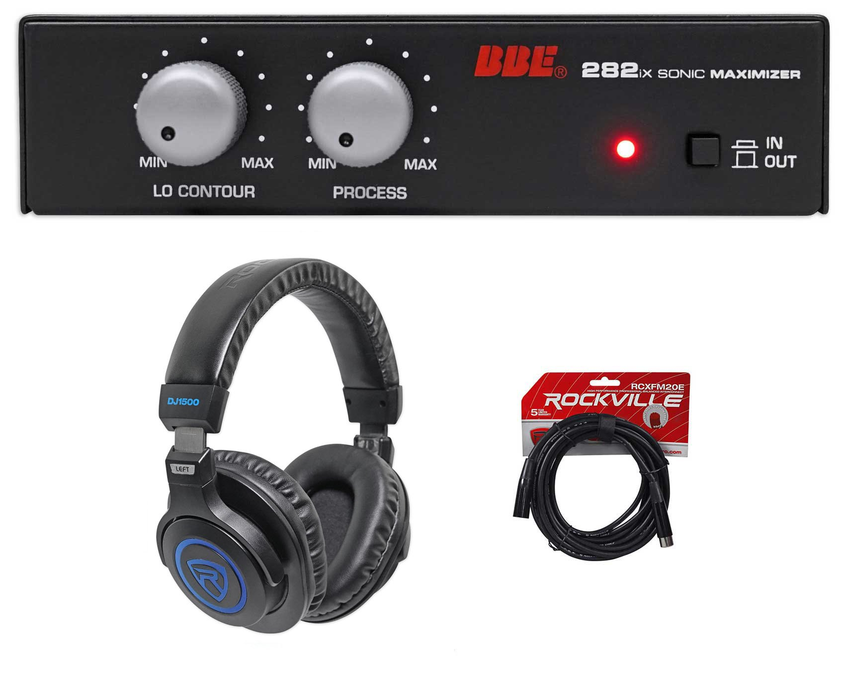 BBE 282IX Desktop Sonic Maximizer w/XLR Inputs/Outputs+Headphones+XLR Cable