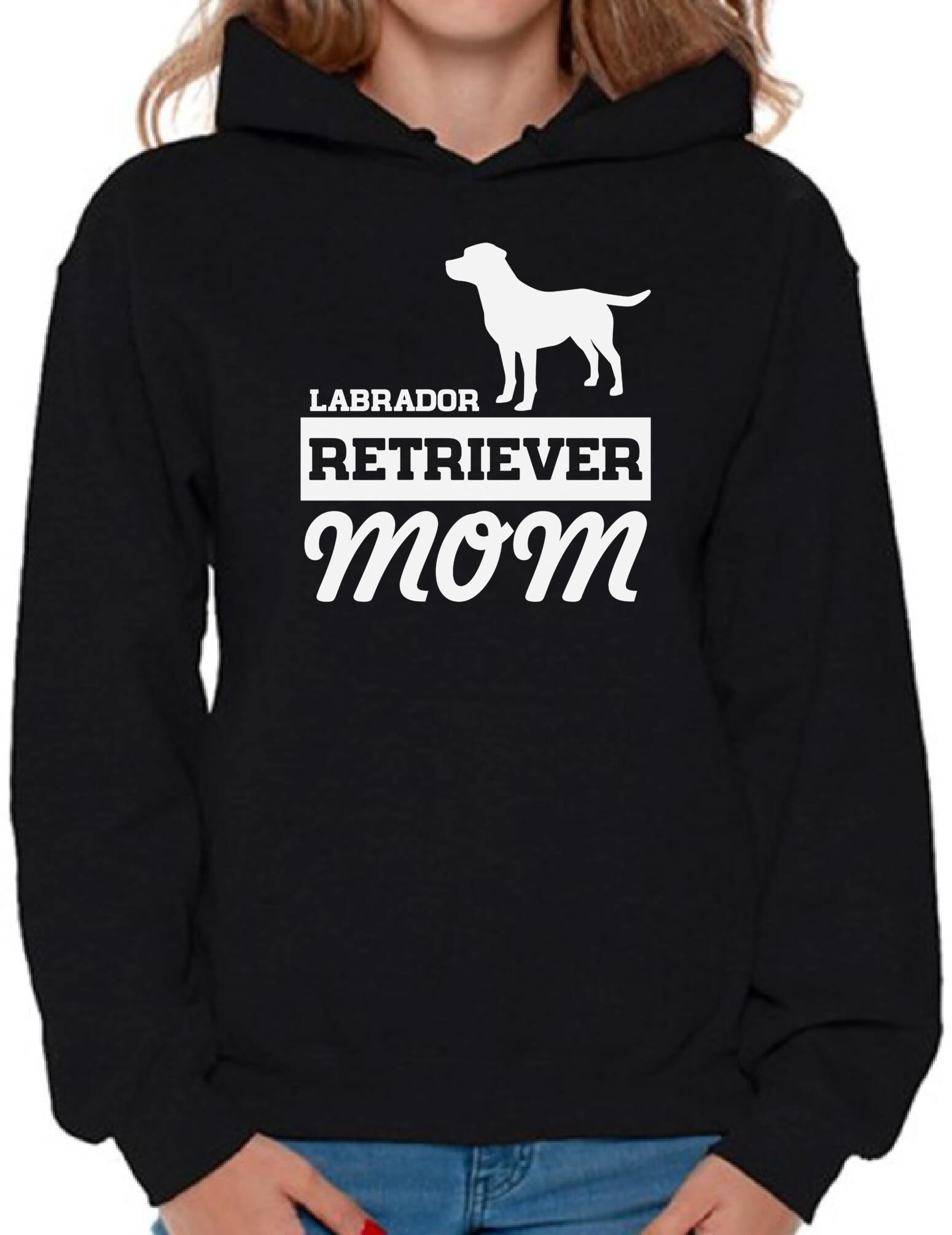 Awkward Styles Women's Labrador Retriever Mom Graphic Hoodie Tops Dog Mom Black L by Awkward Styles (Image #1)