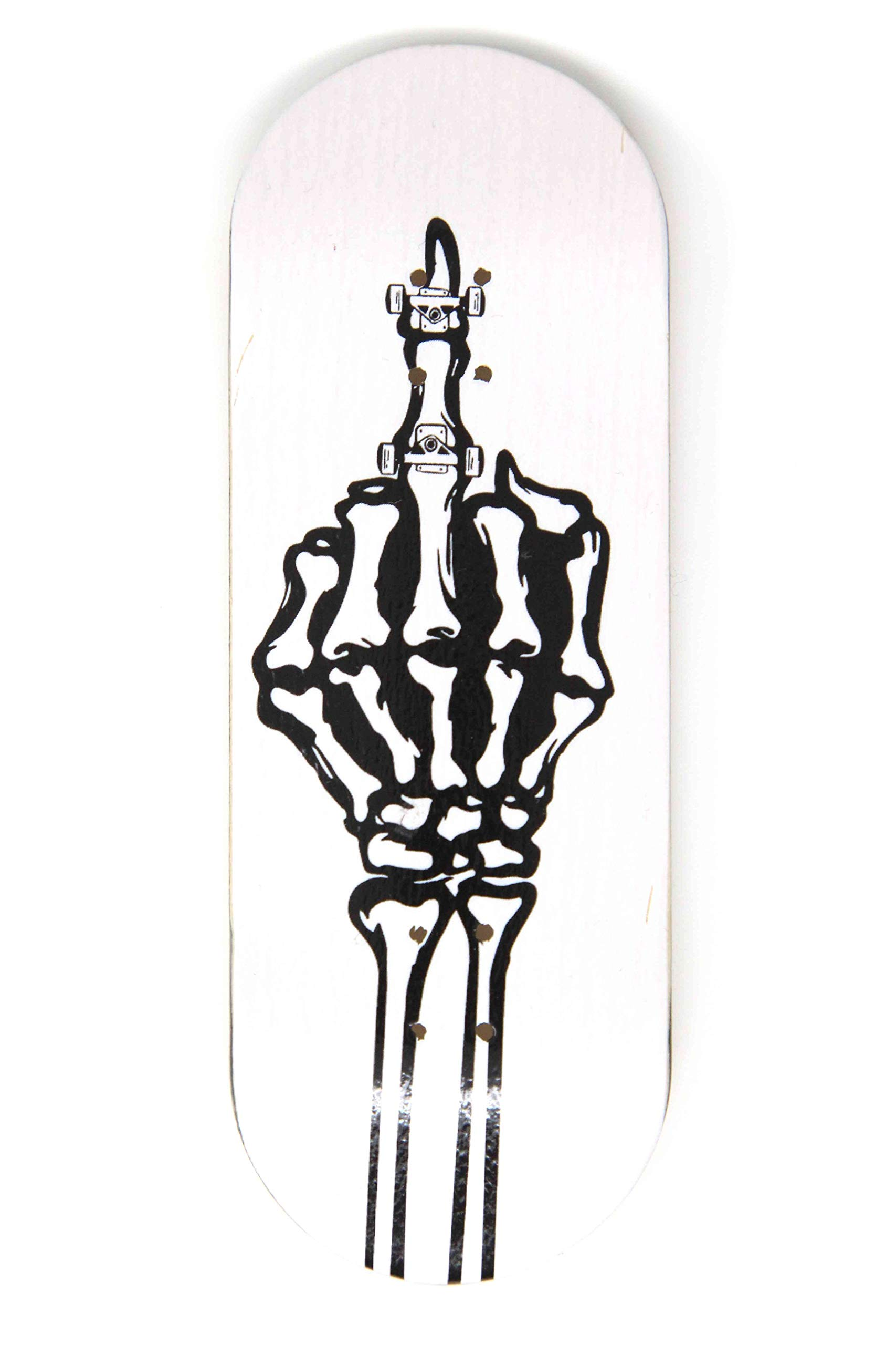 Skull Fingerboards FK You 34mm Complete Professional Wooden Fingerboard Mini Skateboard 5 PLY with CNC Bearing Wheels by Skull Fingerboards (Image #2)