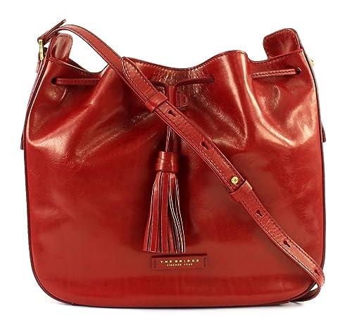 642fb78d494e2 THE BRIDGE Florentin Bucket Bag Rosso Ribes  Amazon.co.uk  Shoes   Bags