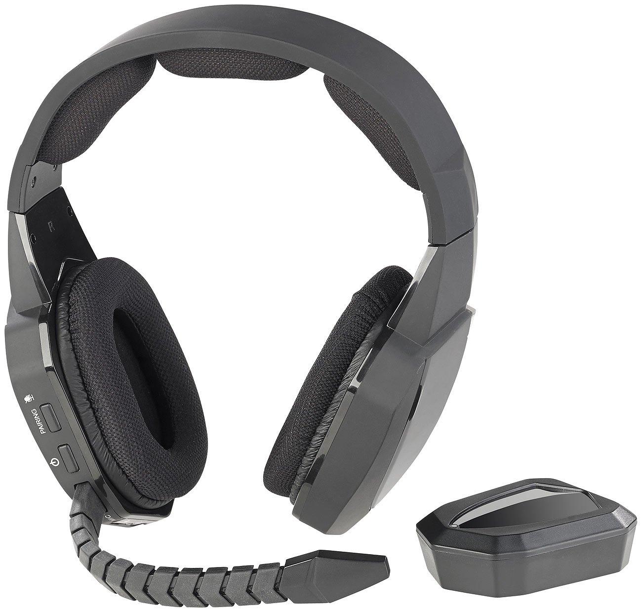 Auvisio Gaming de auriculares inalámbricos: inalámbrico gaming de Juego de auriculares inalámbrico con Toslink & de 12 horas de batería, 2,4 GHz inalámbrico ...