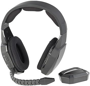 Auvisio Gaming de auriculares inalámbricos: inalámbrico gaming de Juego de auriculares inalámbrico con Toslink &