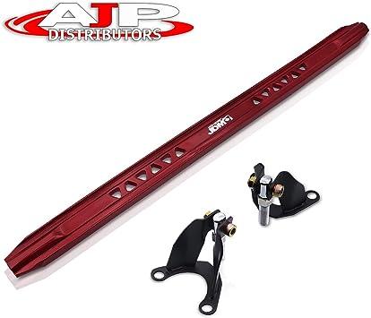 AJP Distributors Red Aluminum Jdm Sport Suspension Rear Upper Lower Strut Bar Brace Performance Racing Stabilizer Adjustable Tower Handling For Honda Civic Ex Dx Lx Ek Ej 96 97 98 99 00