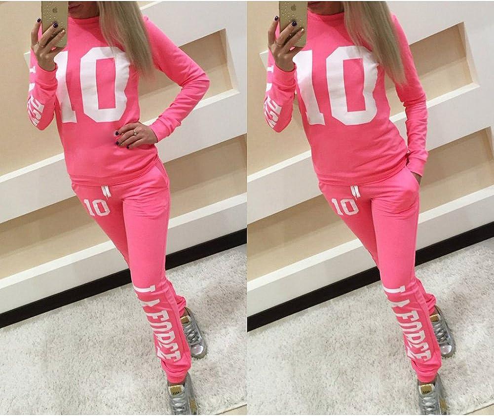 Pantaloni Tuta Loungewear MEIHAOWEI Felpa da Donna 2 Pezzi Set Tuta Jogging Stampa Jogging Felpa