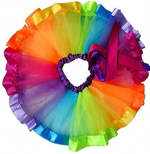 4cae25e989 Amazon.com: belababy Women Girls Baby Skirt Rainbow Tutu for Toddler.:  Clothing