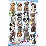 "Trends International Puppy Headphones Wall Poster 22.375"" x 34"""