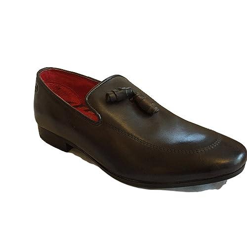 Base London Mocasines de Piel Para Hombre: Amazon.es: Zapatos y complementos