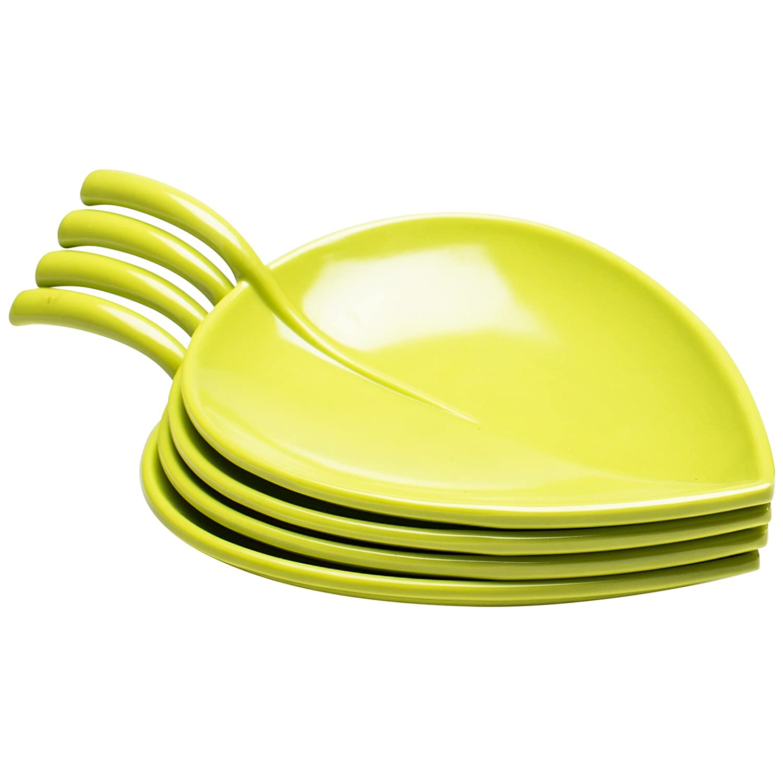 Zak Designs 4-Piece Fulla Appetizer Plate Set, 6.75-Inch, Kiwi 0204-4411