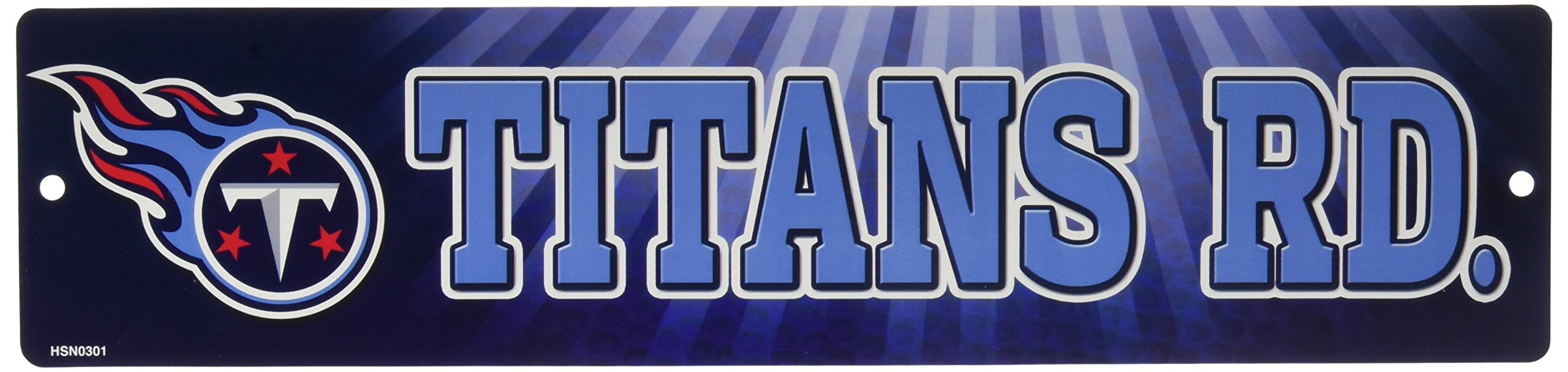 NFL Tennessee Titans 16-Inch Plastic Street Sign