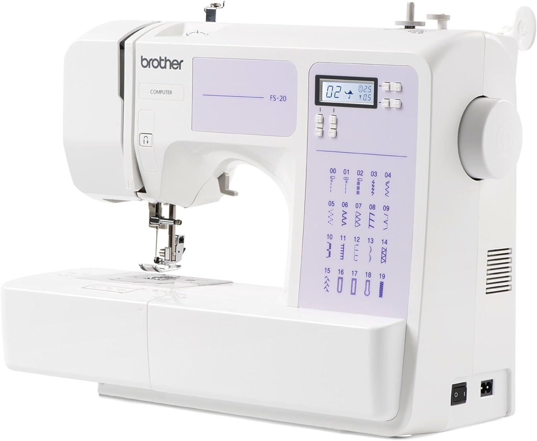 Máquina de coser Brother FS20, Electrónica, 32 funciones de costura, Portatil: Amazon.es: Electrónica