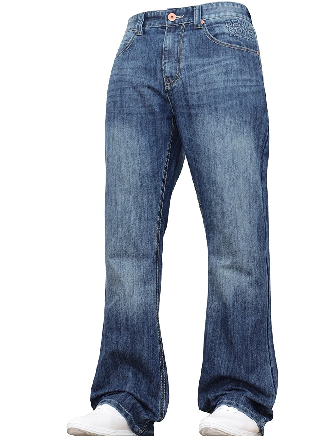 BNWT New Mens Bootcut Flared Wide Leg Bell Bottom Blue Denim Jeans Pants Big King Size All Waist Sizes
