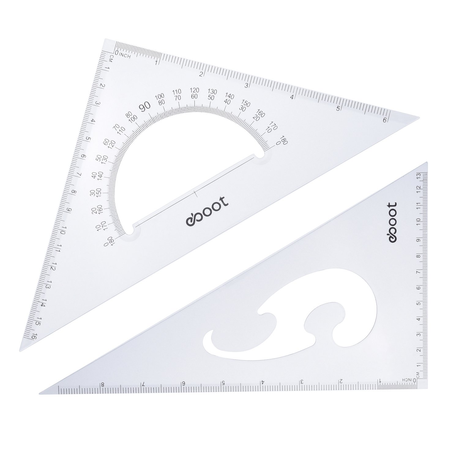eBoot Large Triangle Ruler Square Set, 30/60 and 45/90 Degrees, Set of 2 by eBoot (Image #4)