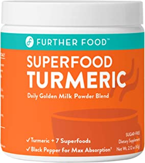 product image for Best Turmeric Golden Milk Organic Turmeric Powder, Anti-Inflammatory Cinnamon Ginger & Black Pepper Maximum Absorption, Joint Pain, Gut Health, Sugar-Free, Vegan, Keto (30 Servings)