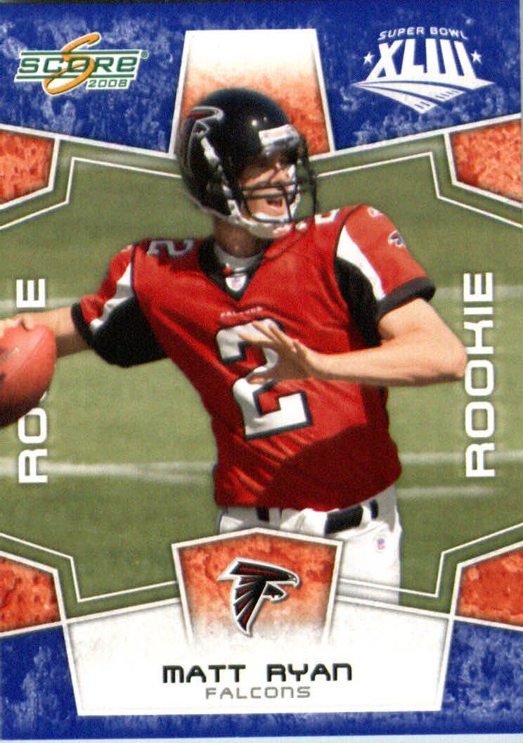 2008スコアSuperbowlブルーNFLフットボールカード Falcons – ( Limited to 1200 Made ) B00B7TRIGM # Matt 333 Matt Ryan ( RC – ルーキーカード) QB – Atlanta Falcons B00B7TRIGM, ウィッグ部分かつらのさくら倶楽部:40e3498b --- harrow-unison.org.uk