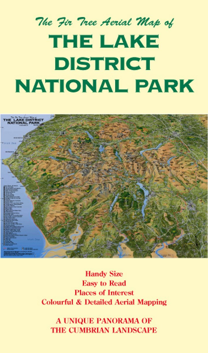 The Fir Tree Aerial Map of the Lake District National Park Amazon
