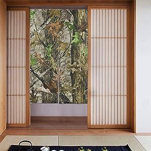 SLHFPX Noren Doorway Curtain Mossy Oak Camo in Grande Japanese Noren Doorway Curtain Long Tapestry Door Curtains Decor Dividers for Home Kitchen Bedroom Bathroom Living Room Office