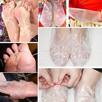 Eliminar la piel muerta Mascarilla del pie Peeling Cuticulas Pies del Talón Cuidado Antienvejecimiento por ESAILQ (Blanco): Amazon.es: Belleza