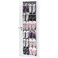 MaidMax 903032 24 Mesh Pockets Shoe Storage Rack w/Hooks