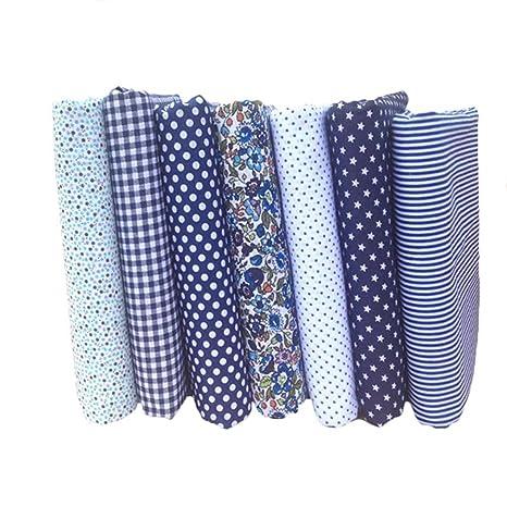 7 telas Souarts de algodón con diseño floral para confección ...