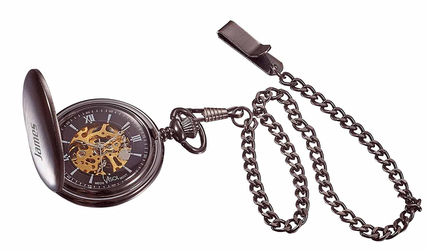 Personalized Visol Mechanical Pocket Watch with Free Engraving