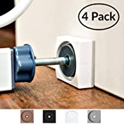 Wall Nanny Mini - Smallest Baby Gate Wall Protector - Low-Profile (Made in USA) for Dog & Pet Gates - Perfect in Doorways - Cups Protect Walls from Kid Child Safety Pressure Gates - Guard Saver