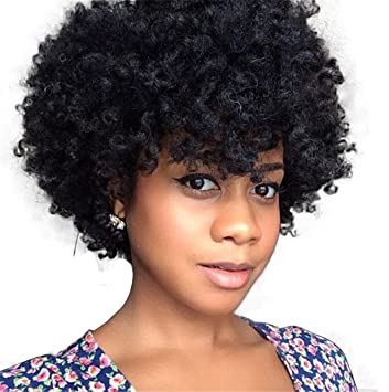 ATOZWIG Natural Afro Wig Kinky Curly Wigs