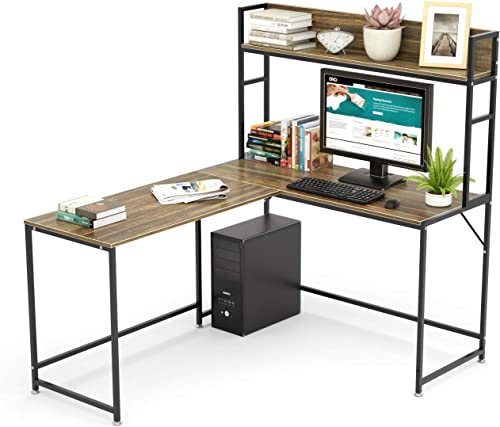 SEISSO Modern L-Shaped Corner Computer Desk