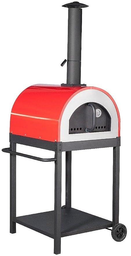 Forno a Legna per Pizza in Acciaio da Esterno Barbecue Giardino con ...