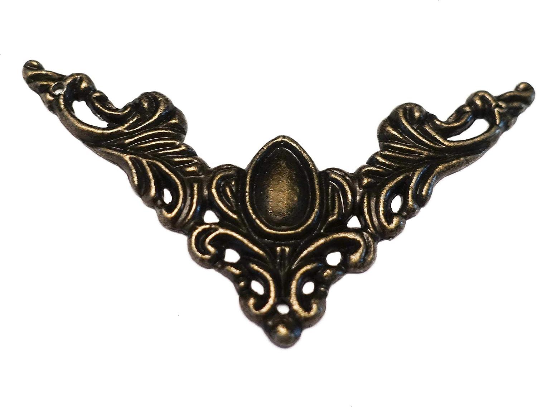 Gr/ö/ße:49 x 49 mm Gr/ö/ßenwahl maDDma 20 Buchecken Bronze Schutzecke Metallecke Ornament Ecke Verzierungen