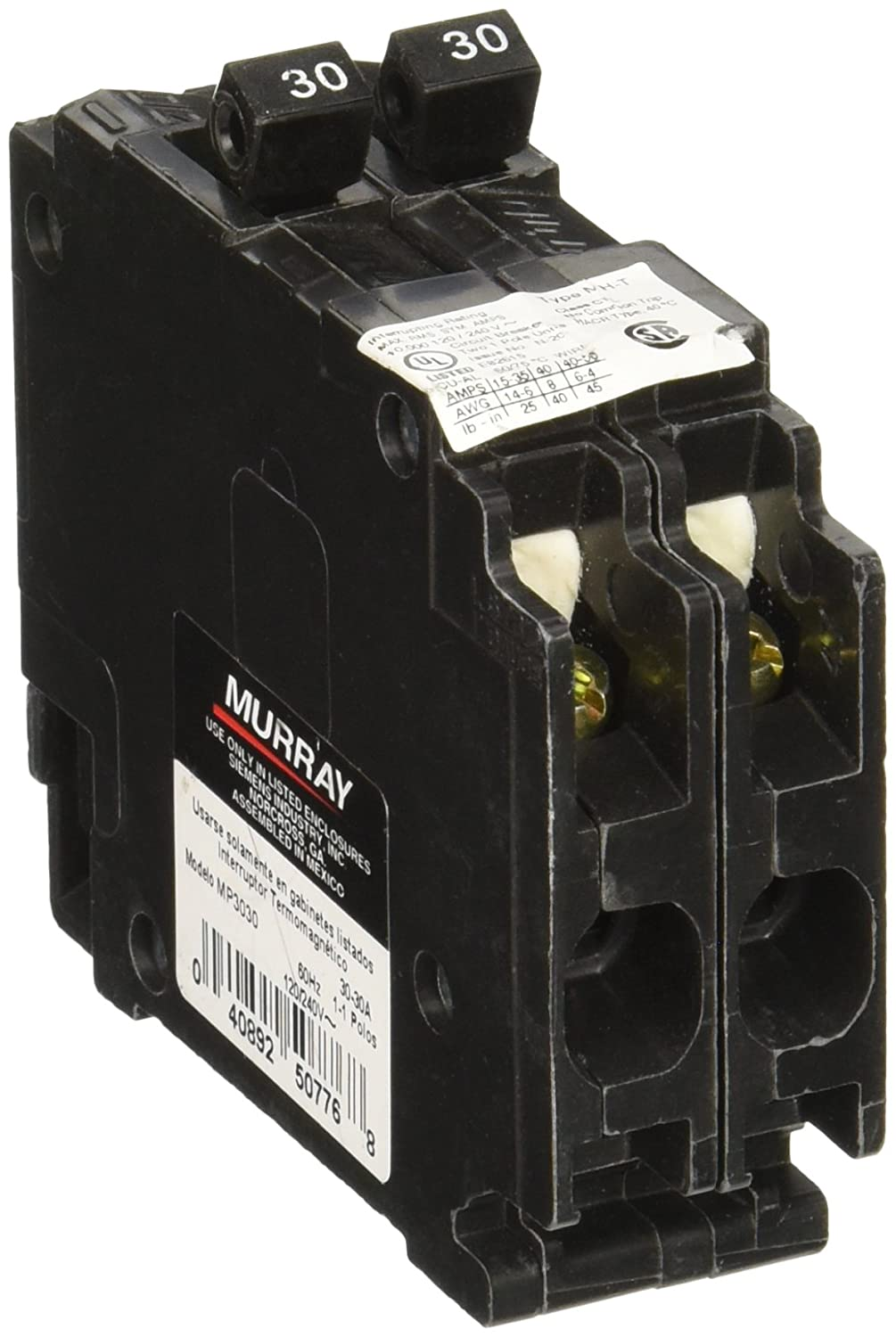 Murray MP3030 twin 30-Amp Single Pole Circuit Breaker